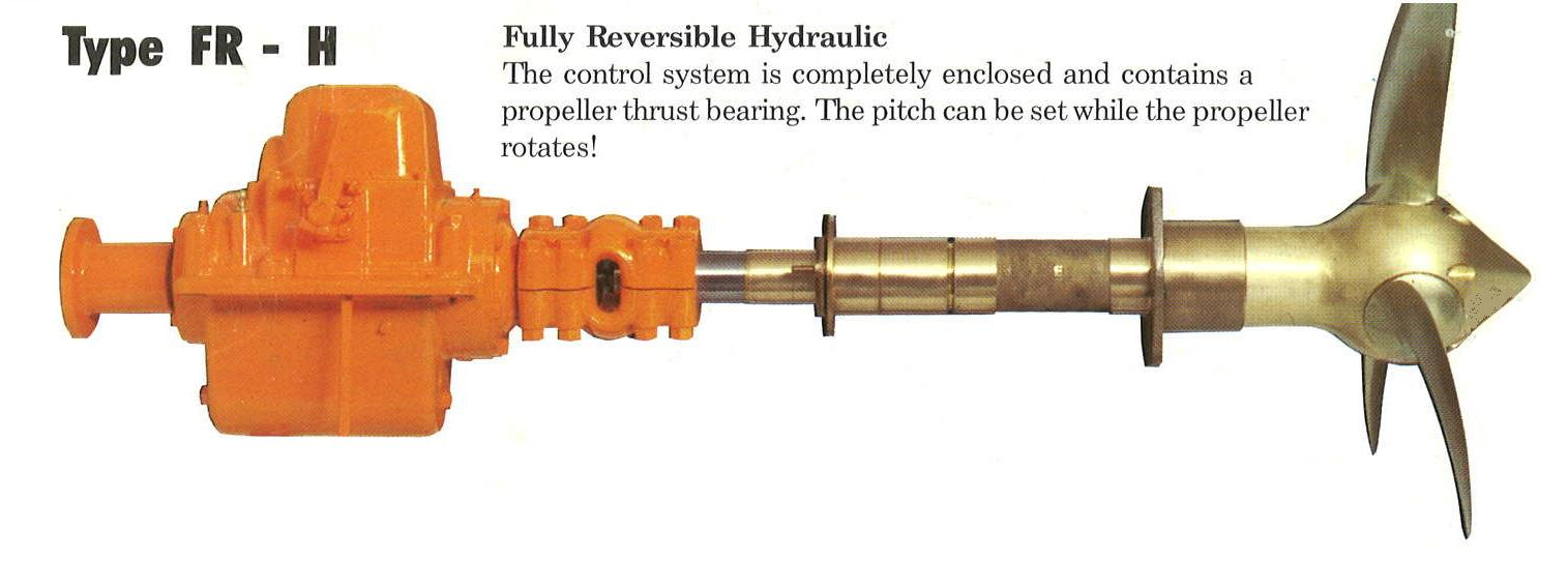 Controllable Pitch Propeller : Used hundested vp fr h teardown