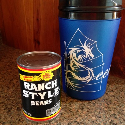 34 oz Blue Thermal Mug (Beans not included)