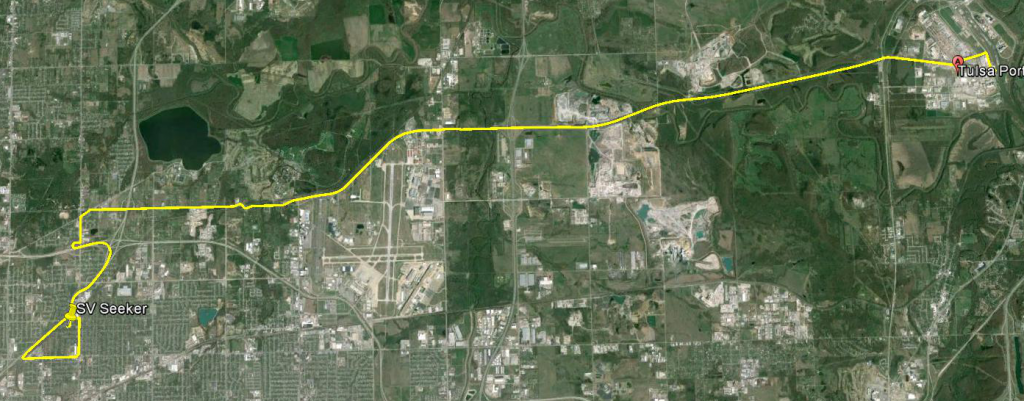 Route to Tulsa Port of Catoosa